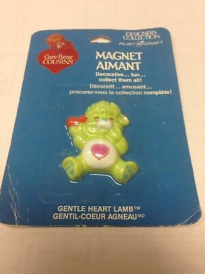 1985 Carlton Cards Care Bears Cousins Magnet Gentle Heart Lamb HTF Vintage
