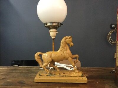 Original Art Deco Lamp Bronze Horse Light Artdeco Diana Table Bedside
