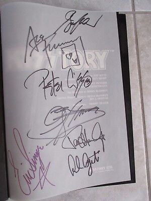 Kiss Signed Kisstory Book Gene Simmons Ace Frehley Peter Criss Paul Stanley Rare