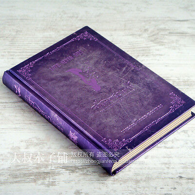 Vintage Purple Vampire Notebook Diary Journal Schedule Planner Notepad Book #B