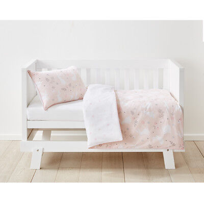 Cotton Cot Quilt Cover Set Baby Boy Girl Bedding Bed White Black Bunny Hop