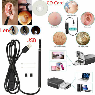 USB Ear Cleaning Endoscope Visual Earpick With Mini Camera Ear Cleaning Tool US