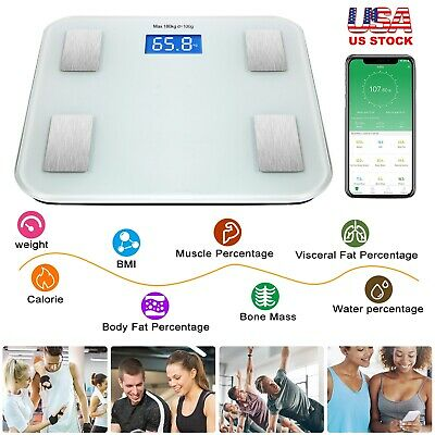 Smart Electronic Body Composition Scale Bluetooth Body Fat Monitor Android IOS