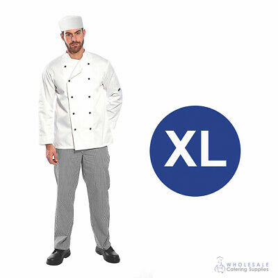 Chef Student Uniform Kit Long Sleeve Coat White with Shoes Cook Extra Large