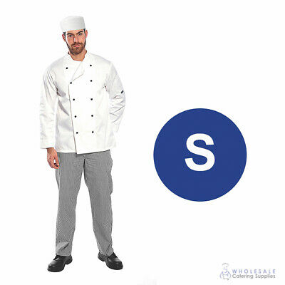 Chef Student Uniform Kit Long Sleeve Coat White with Shoes Cook Kitchen Small