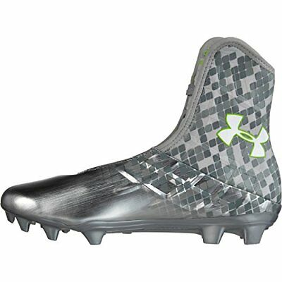 Men's Under Armour Highlight Lacrosse Cleats Metallic Silver Size 11