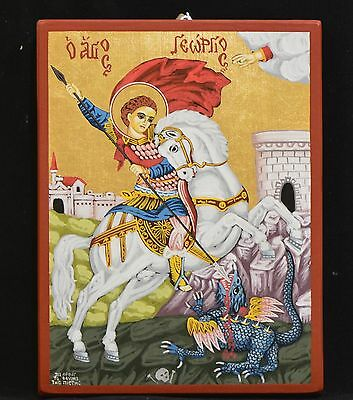 Orthodox Icon Handpainted Greek Russian Saint George Святой Георгий