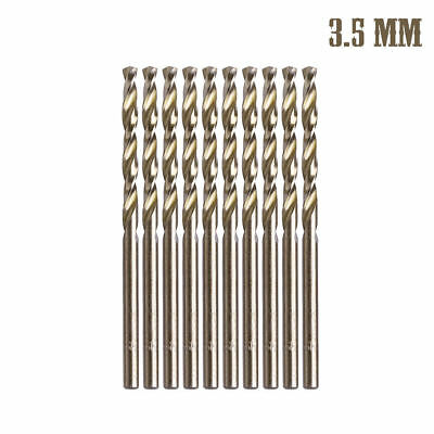 10Pcs 3.5mm M35 Round Shank HSS-Co Cobalt Twist Drill Spiral Drill Bit