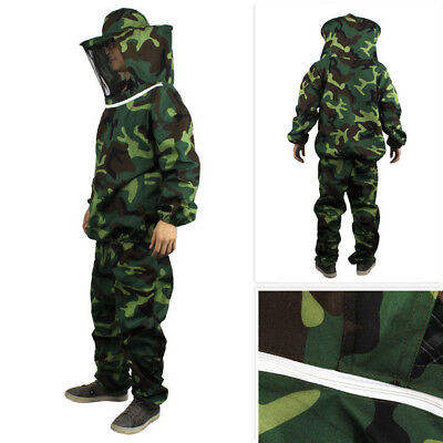 Jacket Pants Veil Bee Protecting Dress Camouflage Beekeeping Suit Protective