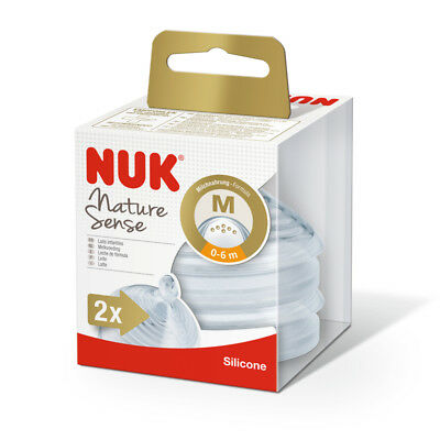 NUK Nature Sense Silicone Teats Available Size Small, Medium, Large