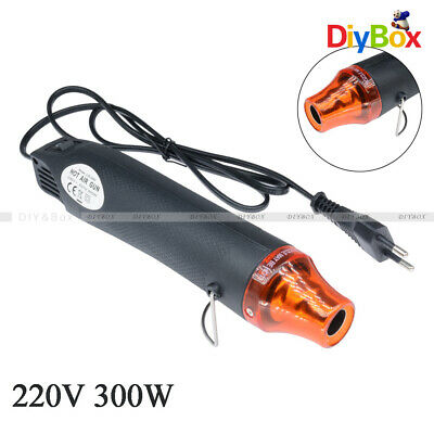 Black Heat Gun 220V 300W Shrink Hot Air Temperature Electric Power Nozzles Tool
