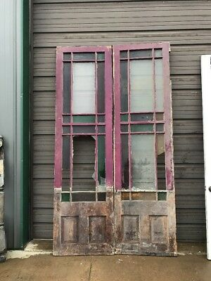 An 428 Match Pair Antique Queen An Double Doors 59.5 X 107