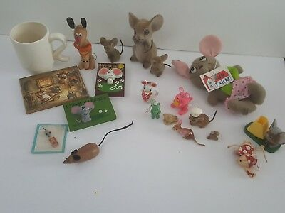 Vintage Mouse Collectibles  Nice Lot !!!  Mice are So Cute!!