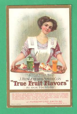 Rare Vintage J. Hungerford Smith Advertising Postcard The True Fruit Maid Tray
