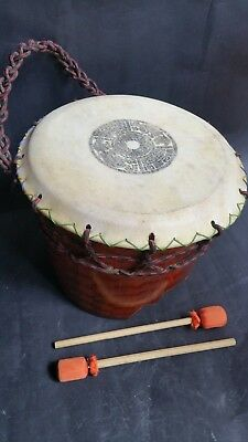 Mexican Huehuetl Drum Native Ethnic Craft Aztec Musical Percussion Instrument
