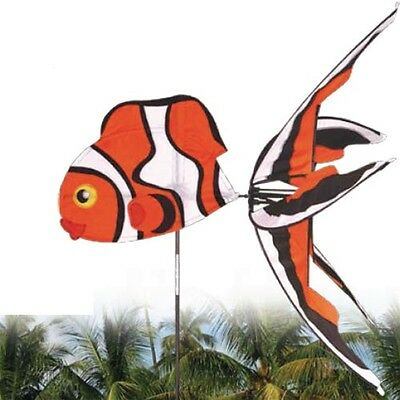 Scarecrow, Clown fish large wind spinner, Premier Kites Garden decor