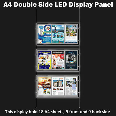 New A4 LED(9A4) Double Side Window Light Pocket Light Panel Estate Agent Display