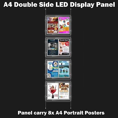 New A4 LED(8A4) Double Side Window Light Pocket Light Panel Estate Agent Display