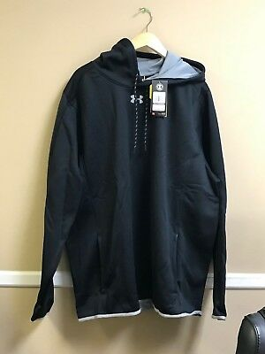 Under Armour Double Threat Hooded Sweatshirt Color Black 1295286 Free Ship