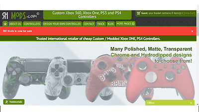 1st Page on Google Website, £5k plus+ Stock | Custom Gaming Controller Business