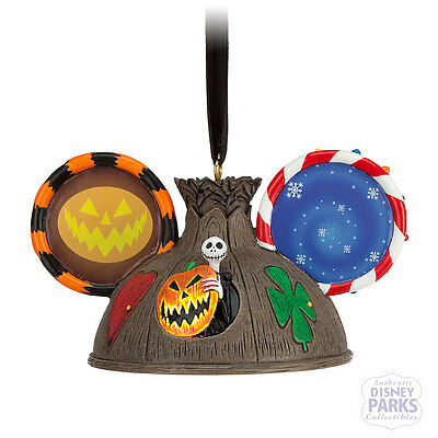 Disney Parks Nightmare Before Christmas Ear Hat Ornament Holiday Tree Light-Up