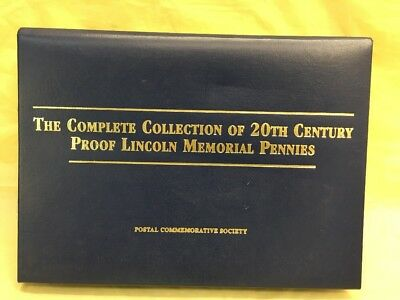 Not-COMPLETE COLLECTION OF 20TH CENTURY PROOF LINCOLN MEMORIAL PENNIES POST.COMM