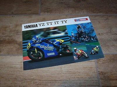 Prospectus /  Brochure YAMAHA YZ /  TT / IT / TY 1987 //