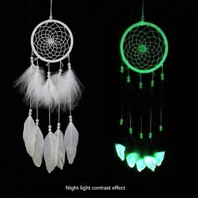 Fluorescence Dream Catcher Noctilucent Feather Wind Chimes Hanging Pendant Gift