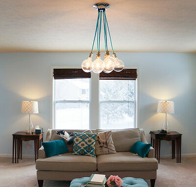 Modern Chandelier with 9 pendant lights - Pendant Cluster Light Fixture