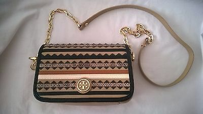 tory burch abendtasche gold damen tasche bag sac leder. Black Bedroom Furniture Sets. Home Design Ideas