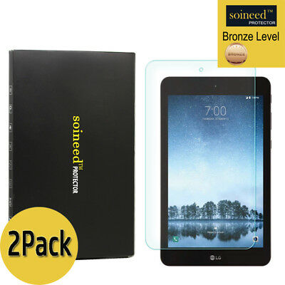 [2-Pack]SOINEED Tempered Glass Screen Protector For LG G Pad F2 8.0 Sprint LK460