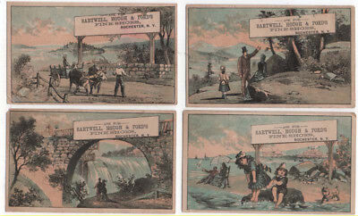 (4) Rochester, New York, Sartwell, Hough & Ford's Fine Shoes Trade Cards