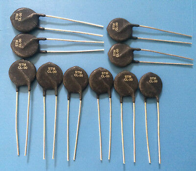 10x CL-30 ST MICROELECTRONICS INRUSH CURRENT LIMITER 2.5 OHM 25% 8A 19.56mm 10ps