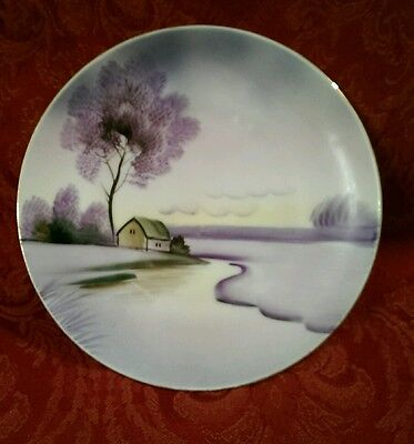 Vintage Meito China Plate Hand Painted Collectible Made In Japan Oriental Art