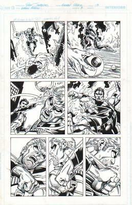 DAN JURGENS/ RAY McCARTHY 2011 GREEN ARROW VS. RUSH ORIG. INK ART-FREE SHIPPING!