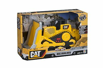 Toy State CAT Big Builder Bull Dozer with Lights + Sounds + Rumbling Action