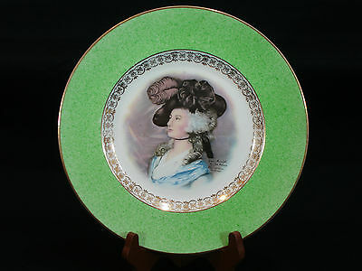 Clarice Cliff Gainsburugh Portrait Plate by Joh Peters Newport Pottery England