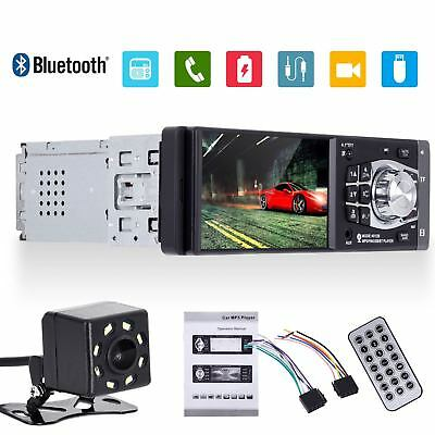 "4.1"" Car Stereo Radio MP5 MP3 Player Bluetooth 1 DIN SD USB FM Audio HD Camera"