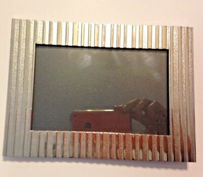Vintage Ornate Modern-Style/Silver-Coated, Solid Brass 4X6 Frame. Mint Condition