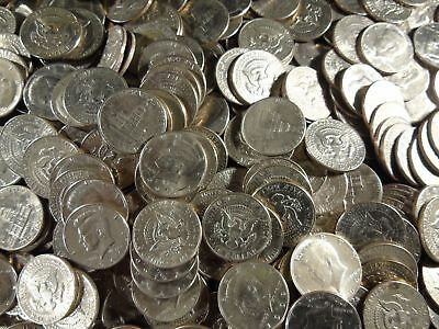 100 unsearched KENNEDY HALF DOLLARS RETIRED DEALERS ESTATE silver possible