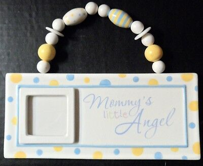 """Picture Frame Baby Mommy's Little Angel infant Nursery Decor  2""""x 2"""" Photo"""