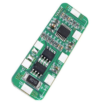 4S 4A 5A PCB BMS Protection Board for 4 Packs 18650 Li-ion lithium Battery Cell