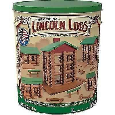 LINCOLN LOGS –Collector's Edition Village – 327 Pieces /New in open damaged Case