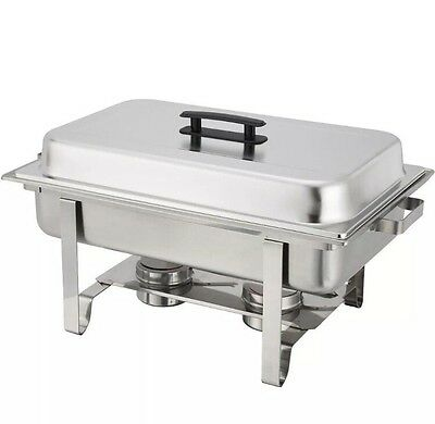 Stainless Steel Chafer 8qt Chafing Dish Server Party Buffet Serve Food Warmer