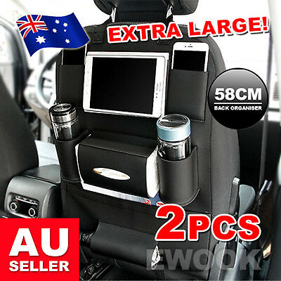 2X New Waterproof Travel Car Seat Back Organiser iPad Holder Foldable Table Desk