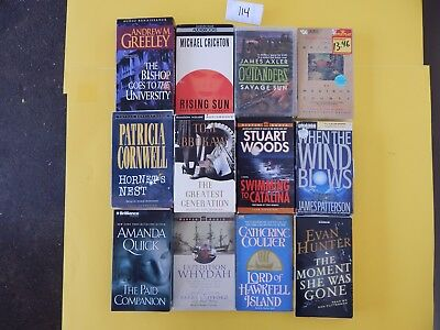 Lot of 12 Mixed Audio Books on Cassettes. L114