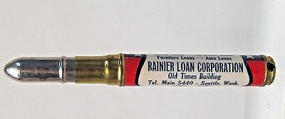 1930's RAINIER LOAN Seattle Washington BULLET PENCIL keychain key chain