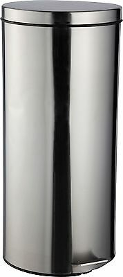 HOME 30 Litre Kitchen Pedal Bin - Silver.