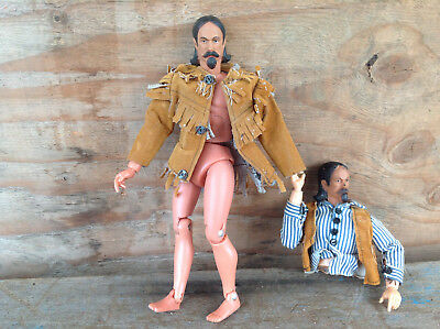 2 Vintage 1970's Buffalo Bill Action Figure Parts and Pieces with Clothing Items