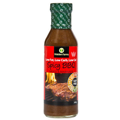 Walden Farms Spicy BBQ Sauce & Marinade - Gluten Free Low Carb Low Calorie Diet